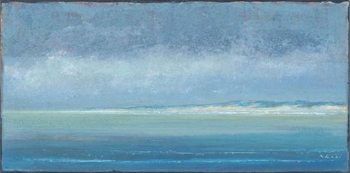 Soulac-sur-Mer - 30 x 60 cm - Acrylique sur papier marouflé sur toile - Acrylic on paper / Canvas