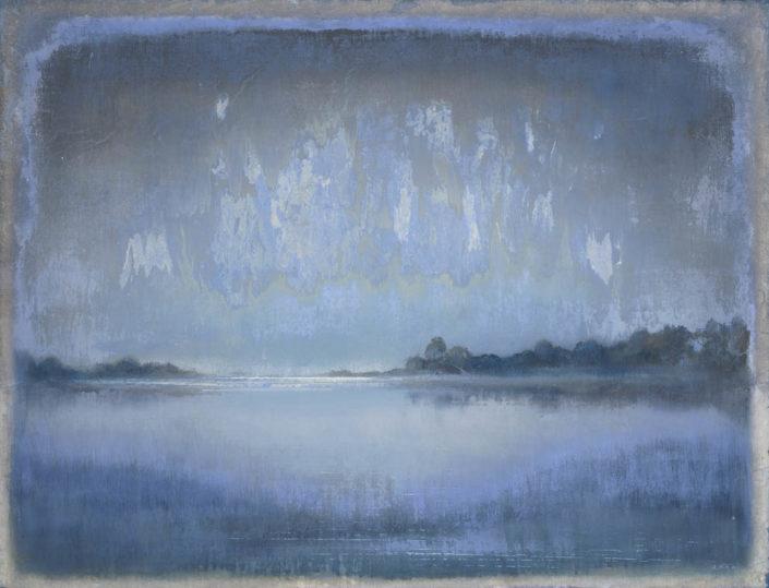 Galerie Felli - R.FERRI - L'étang - 89 x 116 cm - 2015 - Acrylique sur papier marouflé sur toile