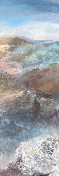 Bella Italia - 120 x 40 cm - Huile et tempera sur toile