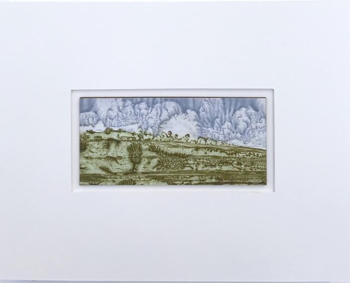 Grèce antique - Encadrement 17 x 21,5 cm - Huile et tempera sur papier