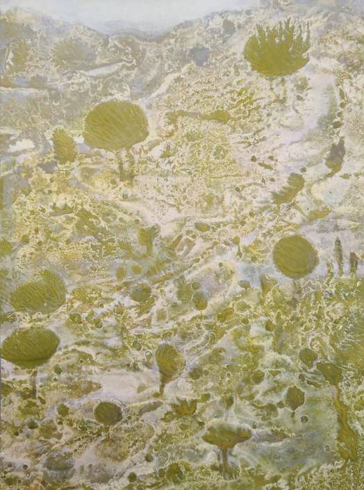 Italie, tempera et huile sur papier, 21,3 x 15,8 cm, 2019