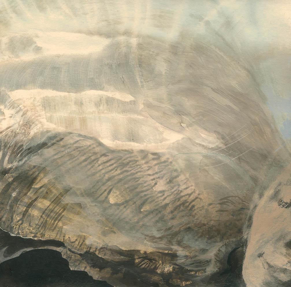 L'ange - 15 x 15 cm - Huile et tempera sur carton