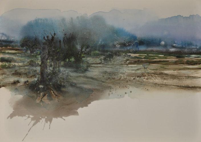 Le monde vu par ... La brume bleue - 115 x 162 cm