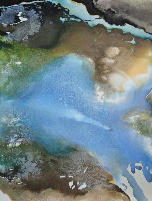 Le monde vu par... un nuage - Huile sur toile - 130 x 97 cm