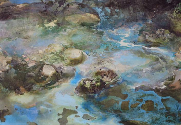 Le monde vu par...Une goutte d'eau - 81 x 116 cm - Huile sur toile