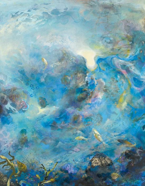 Le monde vu par...un poisson - Huile sur toile - 146 x 114 cm