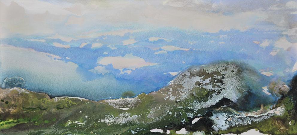 Le monde vu par...une Mouette - Huile sur toile - 76 -x 162 cm
