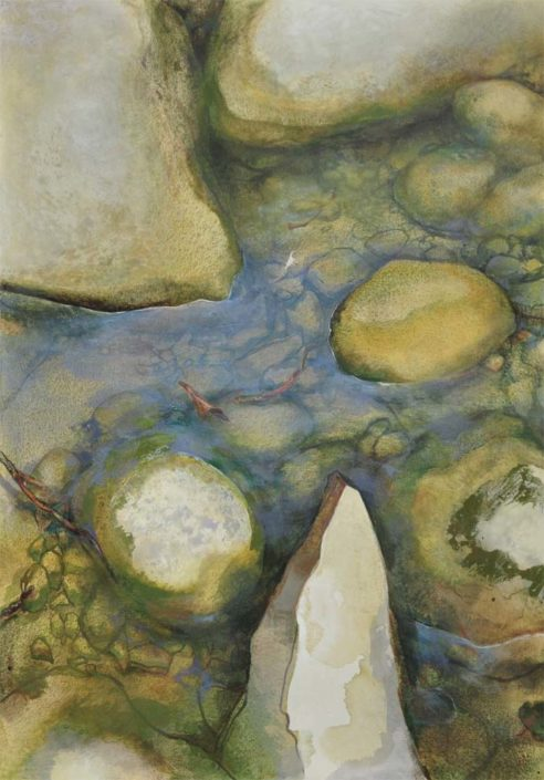 Le monde vu par...une feuille - Huile sur toile - 130 x 130 cm