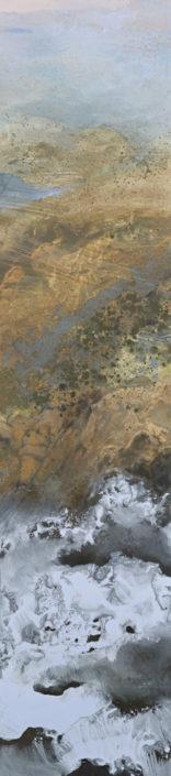 Les vagues - 115 x 25 - Huile et tempera sur toile