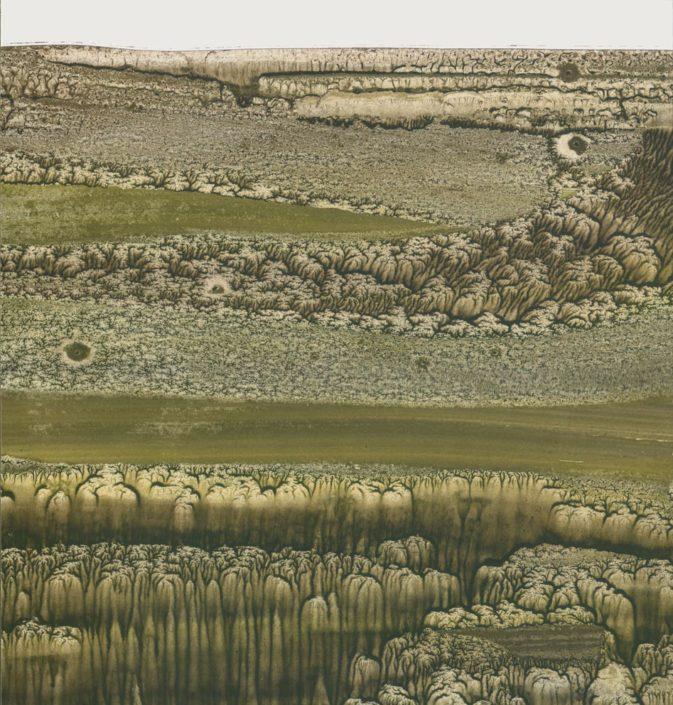 Paysage - 22 x 23 cm - Vinylique sur carton