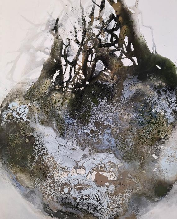 L'oeil planète - Huile sur toile - 162 x 114 cm