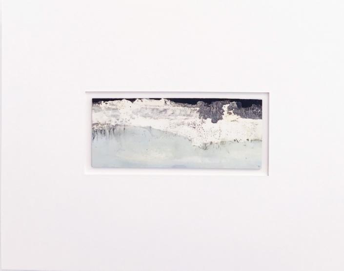 Arctique - Encadrement 17 x 21,5 cm - Huile et tempera sur papier