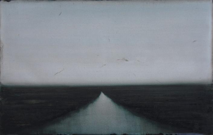 CHEREL - Estuaire II - 70 x 110 cm - Encre et brou de noix sur papier