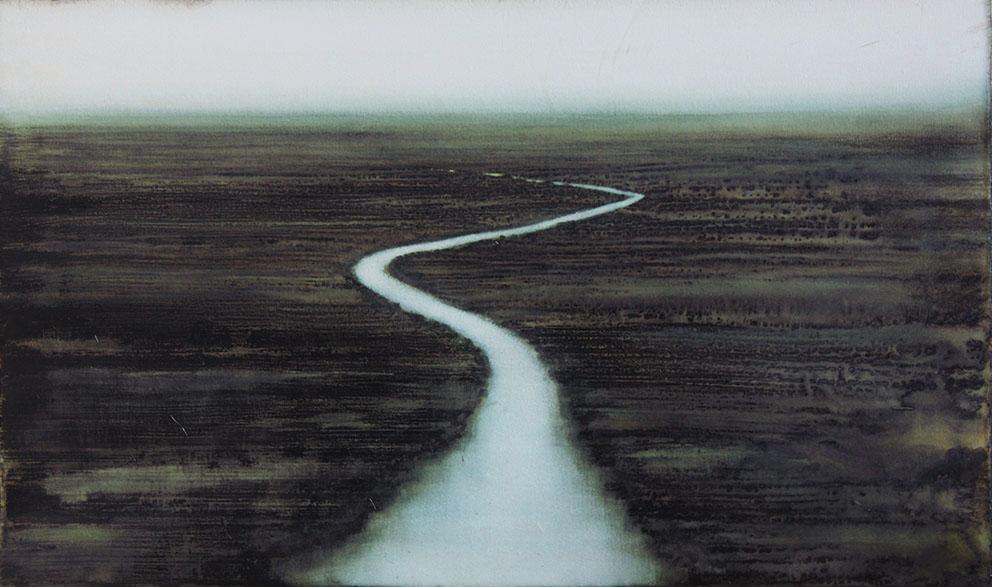 CHEREL - Rivière 2 - 60 x 100 cm - Encre et brou de noix sur papier