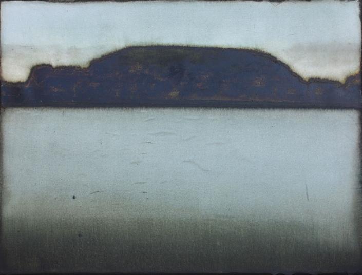 Cherel - Lîle 4 - 2019 - 35 x 60 cm - Encre et brou de noix sur papier marouflé sur toile