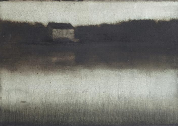 Cherel - La maison - 2019 - 40 x 60 cm - Encre et brou de noix sur papier marouflé sur toile