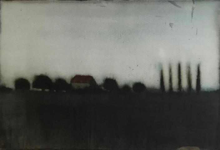 Cherel - Maison rouge - 35 x 52 cm