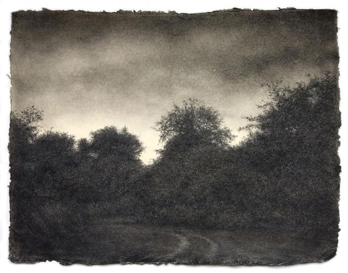 Sue Bryan - 'Pertaining to Joy' - Charcoal, Carbon & Graphite - 48 x 63.5 cm