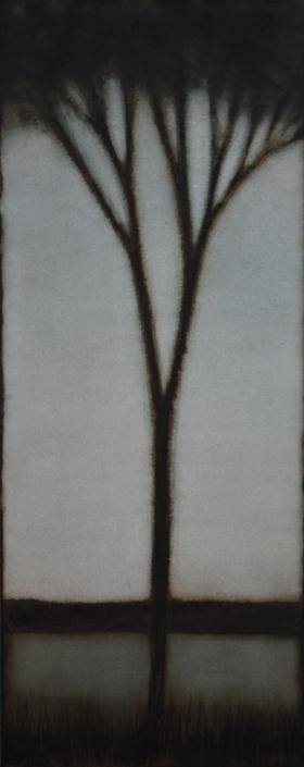 CHEREL - Arbre - 40 x 100 cm - Encre et brou de noix sur papier