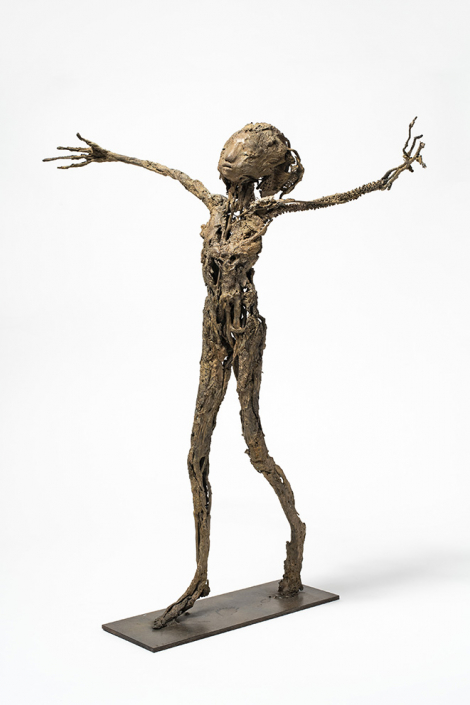 Abraso - h:58 cm - Bronze - Pièce unique