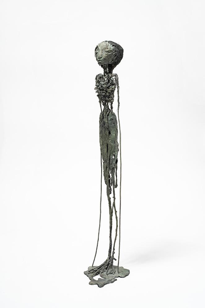 Fleur - h:65 cm - Bronze - Pièce unique