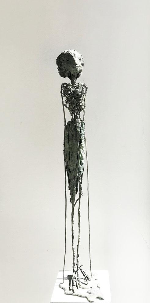 Fleur - Bronze - Pièce unique - H/65 cm