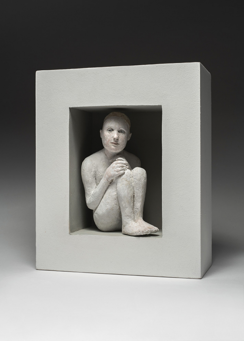 Agnès Baillon - Bien caché - H 32 cm