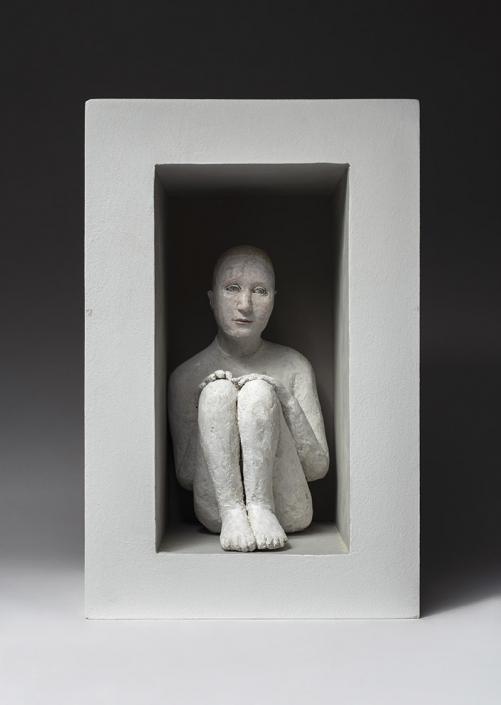 Agnès Baillon - Cachette bien gardée - H 38 cm