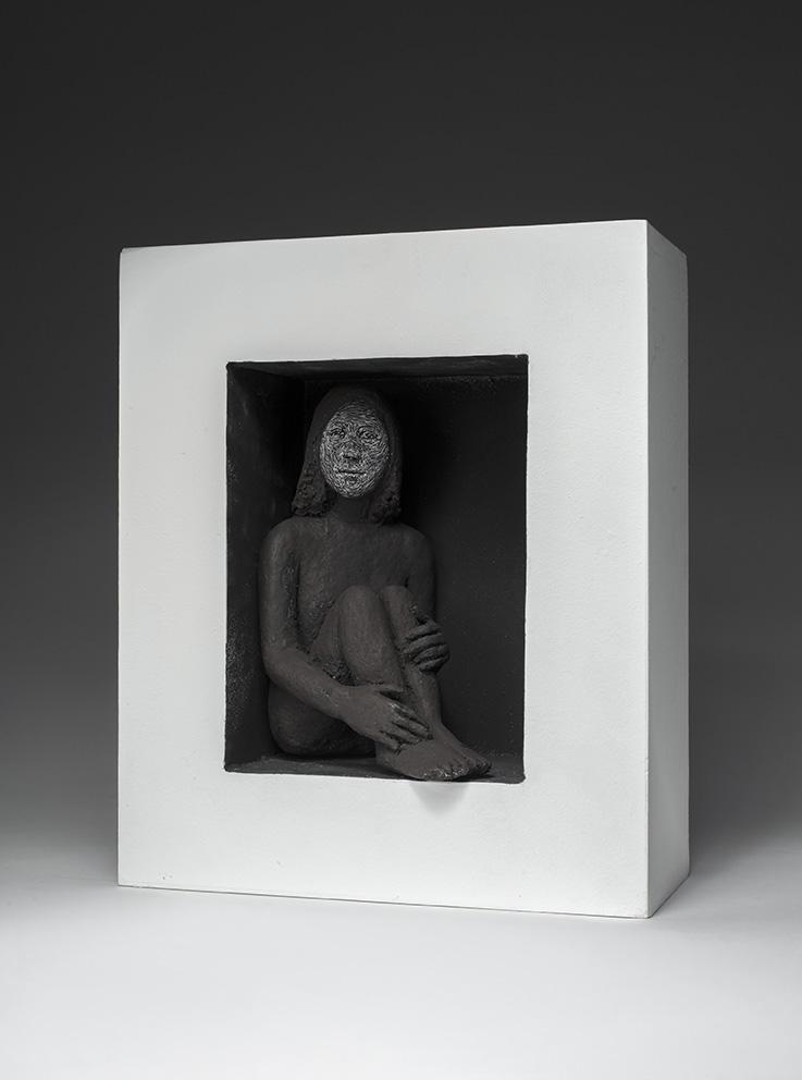 Agnès Baillon - Cachette camouflage - H 32 cm