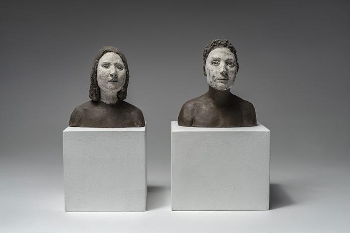 Agnès Baillon - Couple maquille - H 11 cm - Céramique