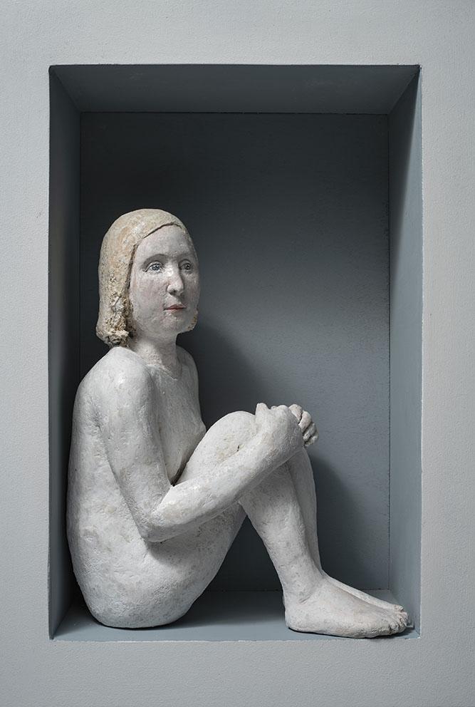Agnès Baillon - Femme en boite - H 50 cm
