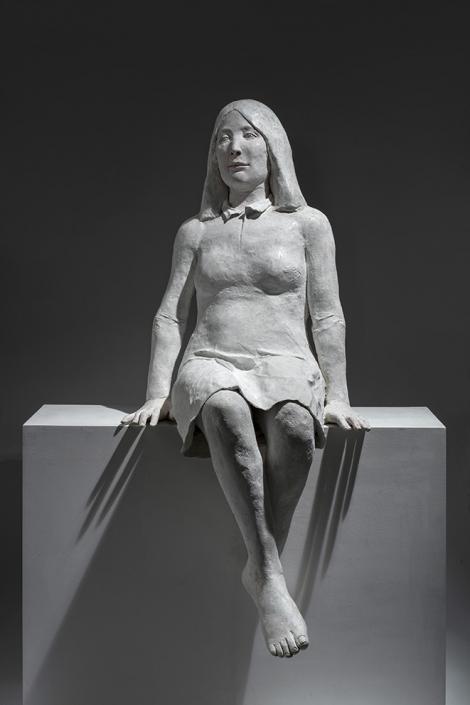 Agnès Baillon - Mona - H 135 cm - Papier mâché
