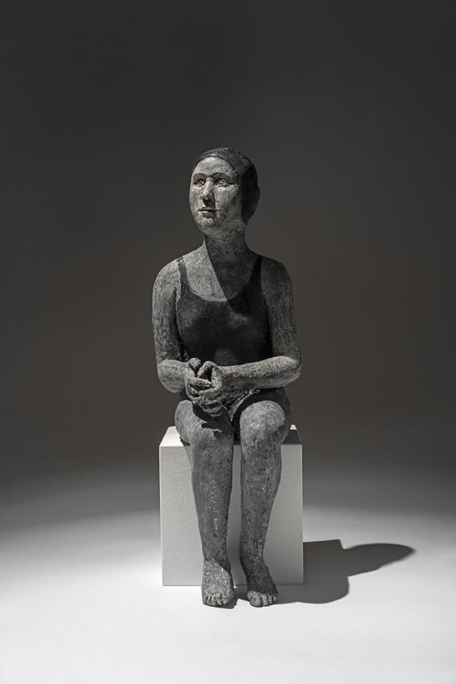 Agnès Baillon - Nageuse en noir - H 32 cm