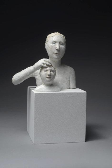 Père protecteur - Papier mâché - H 13 cm