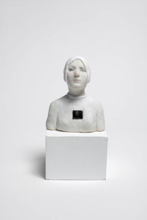 Petit buste reliquaire - - Résine - H 15 cm