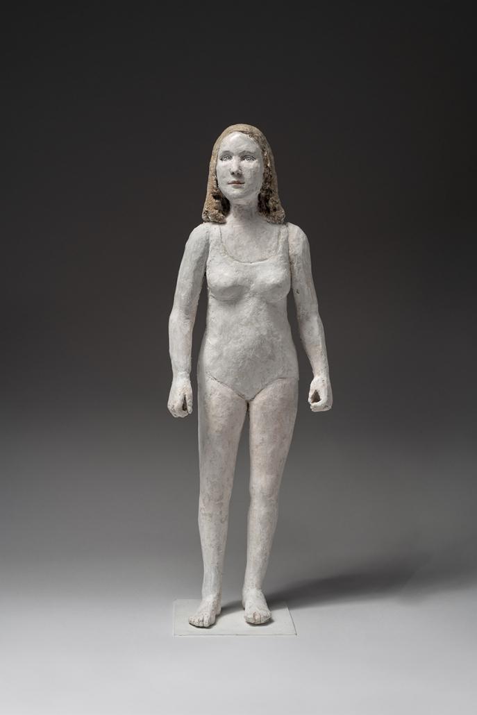 Agnès Baillon - Nageuse féminine - h 43 cm - Papier mâché