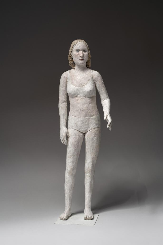 Agnès Baillon - Nageuse galante - h/47 cm - Papier mâché