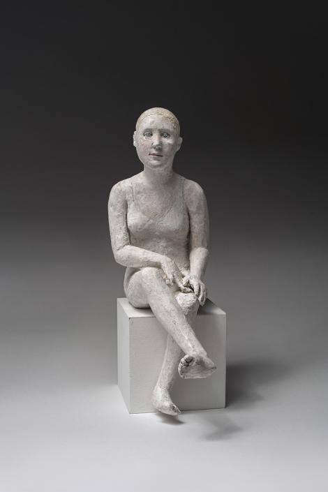 Agnès Baillon - Nageuse timide - h/32 cm - Papier mâché