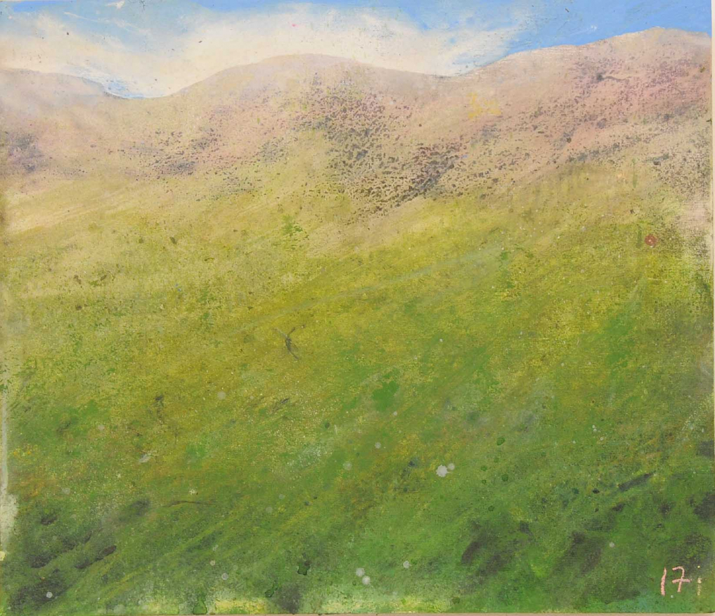 agnes (Rêve d'une confinée) - Acrylique sur bois - 44 x 52 cm