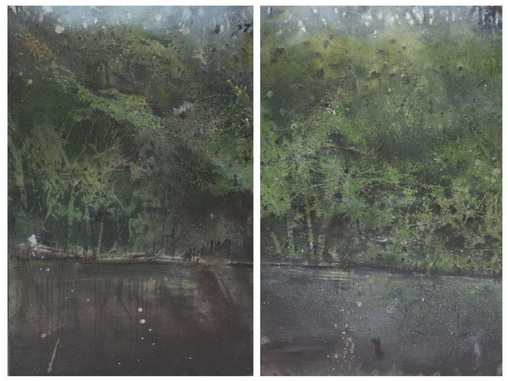 Au dessous des ruines - 91 x 60 cm (x2)- 2016 - Acrylique sur bois