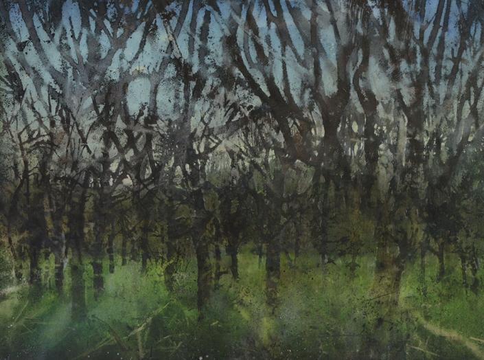 Katarina Axelsson - Gryningsfolket 1 - 92x125 cm - Acrylique sur bois