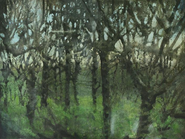 Katarina Axelsson - Gryningsfolket 3 - 92 x 125 cm - Acrylique sur bois
