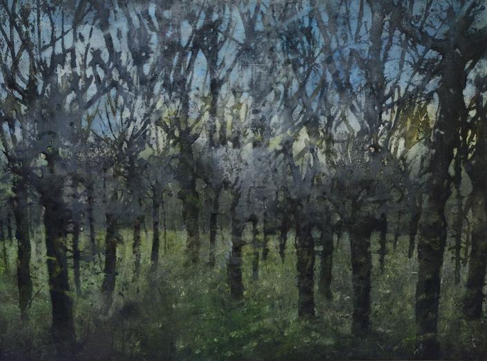 Katarina Axelsson - Gryningsfolket 4 - 92x125 cm - Acrylique sur bois