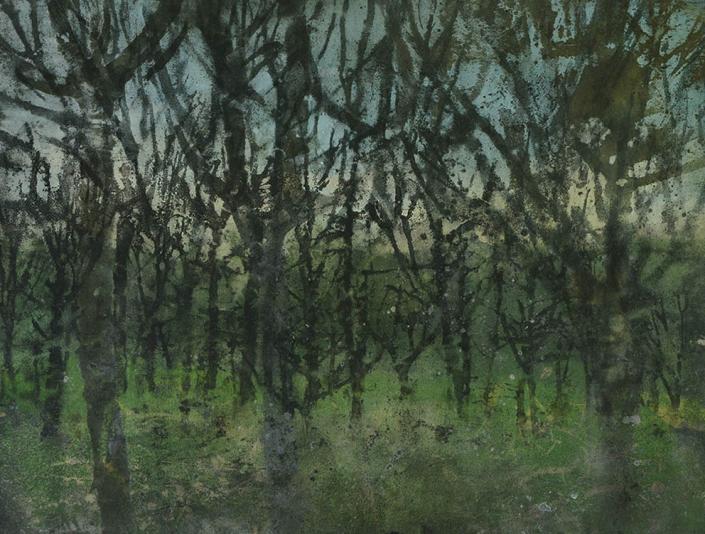 Katarina Axelsson - Gryningsfolket 5 - 92 x 125 cm - Acrylique sur bois