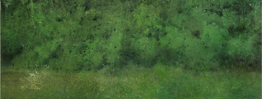 Katarina Axelsson - La colline - 152 x 152 cm - Acrylique sur bois