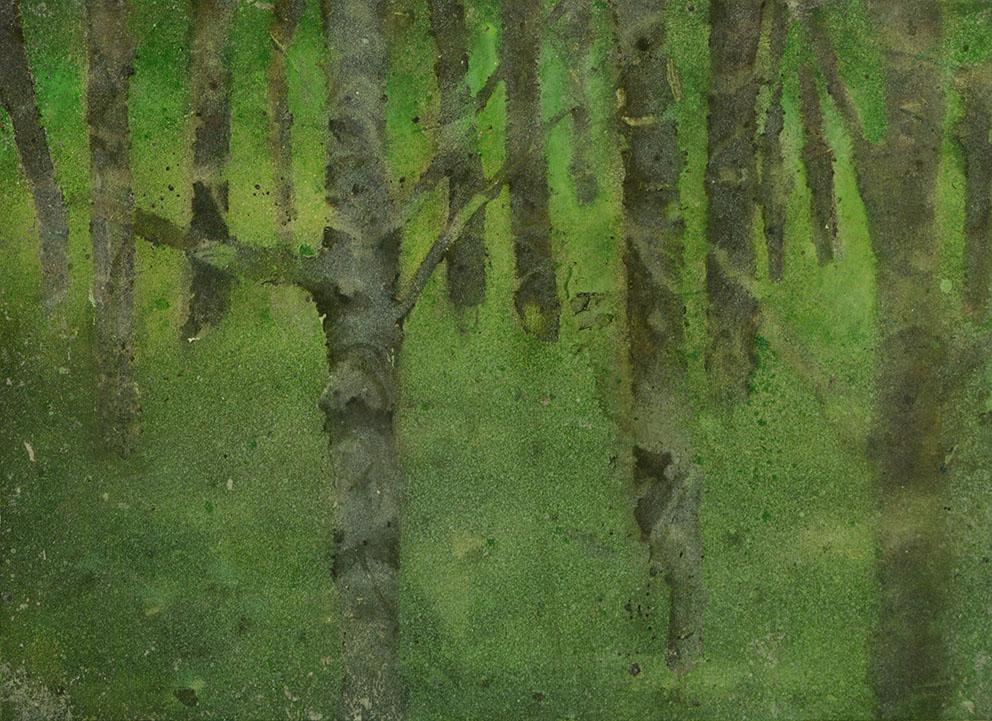 Katarina Axelsson - Stammar 10 - 39 x 50 cm - Acrylique sur bois