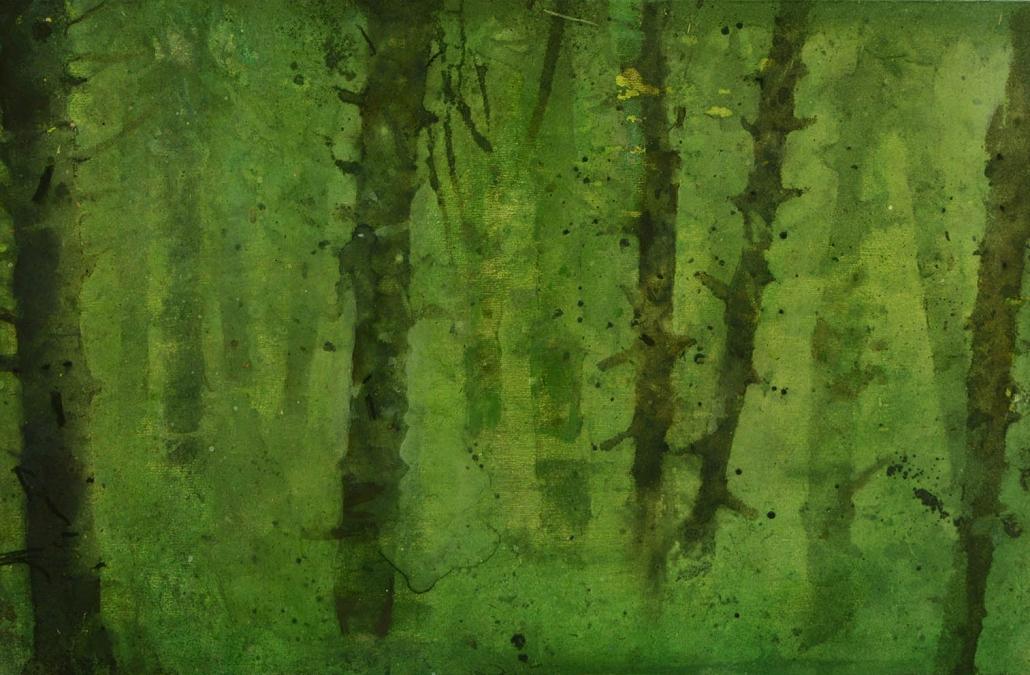 Katarina Axelsson - Stammar 11 - 39 x 50 cm - Acrylique sur bois