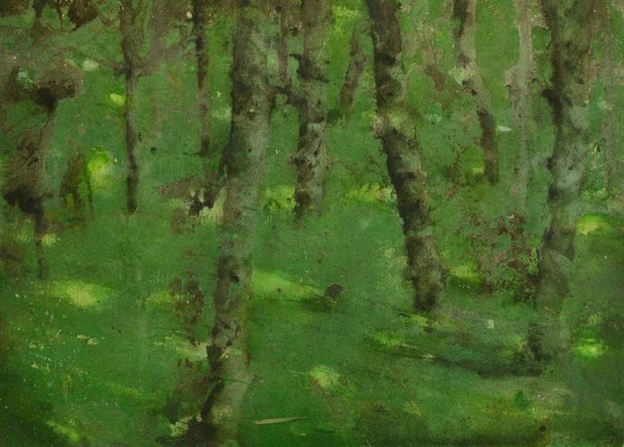 Katarina Axelsson - Stammar 12 - 39 x 50 cm - Acrylique sur bois