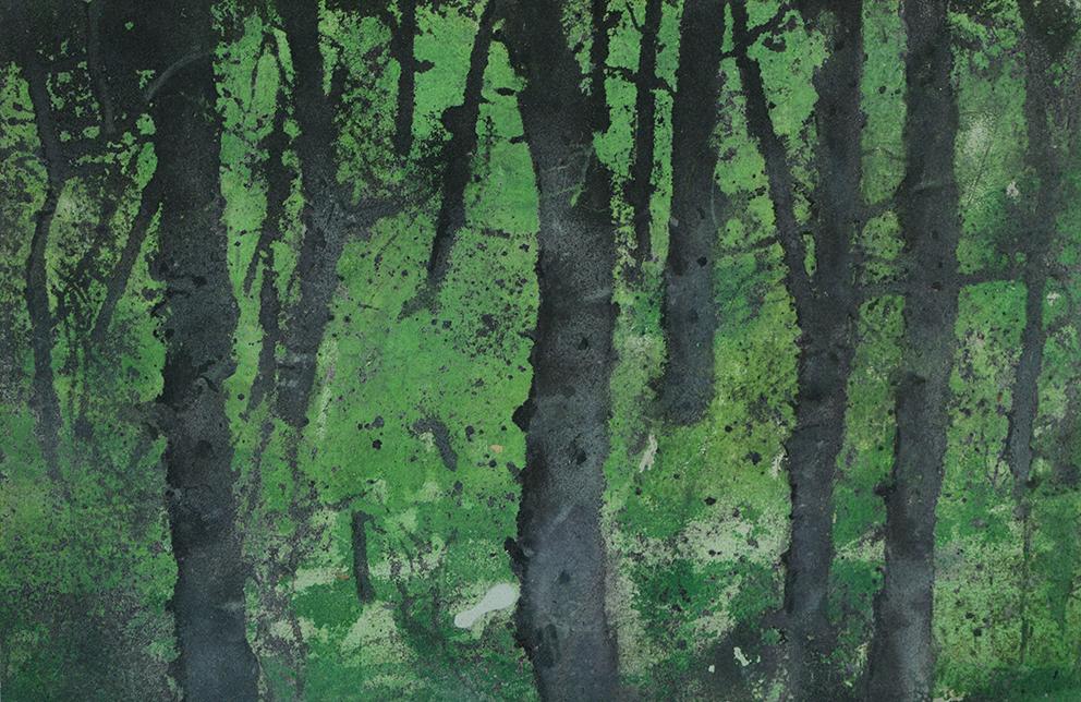 Katarina Axelsson - Stammar 13 - 39 x 50 cm - Acrylique sur bois