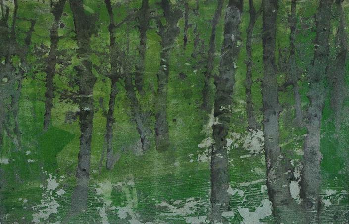 Katarina Axelsson - Stammar 14 - 39 x 50 cm - Acrylique sur bois